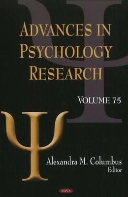 Advances in Psychology Research: Volume 75 (Hardback)