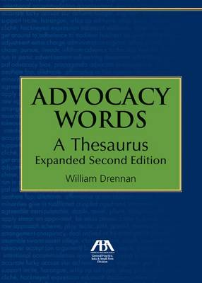 Advocacy Words: A Thesaurus, Expanded (Paperback)