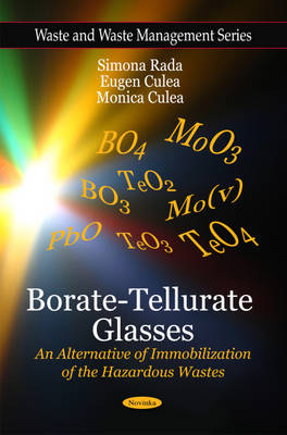 Borate-Tellurate Glasses: An Alternative of Immobilization of the Hazardous Wastes (Paperback)