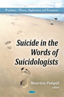 Suicide in the Words of Suicidologists (Hardback)