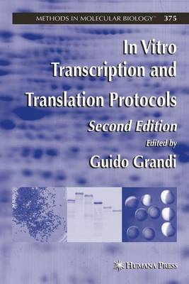 In Vitro Transcription and Translation Protocols - Methods in Molecular Biology 375 (Paperback)