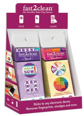 Fast2clean Jewel & Rainbow Mini Microfiber Static-Cling Cleaners Pop