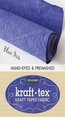kraft-tex (R) Designer, Blue Iris: Kraft Paper Fabric
