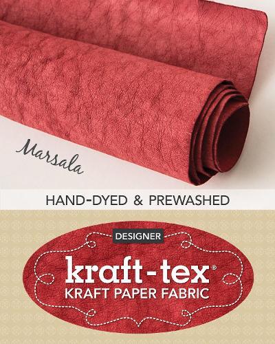kraft-tex (R) Designer, Marsala: Kraft Paper Fabric