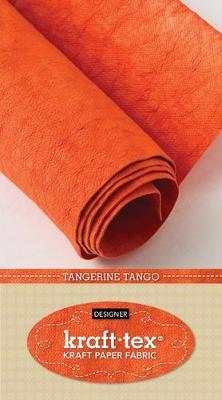 kraft-tex (R) Designer, Tangerine Tango: Kraft Paper Fabric