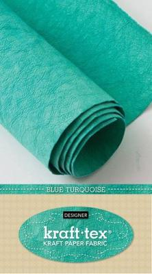 kraft-tex (R) Designer, Blue Turquoise: Kraft Paper Fabric