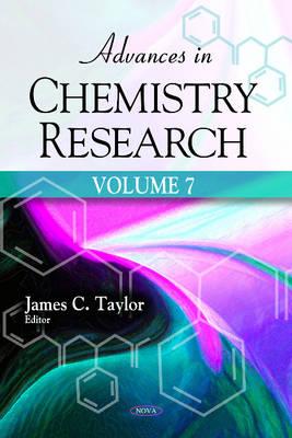Advances in Chemistry Research: Volume 7 (Hardback)