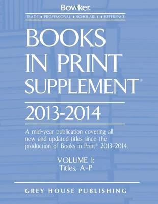 Books in Print Supplement 2013/14 (Hardback)