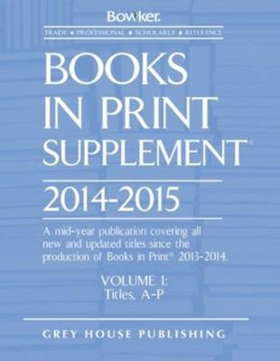 Books In Print Supplement, 2014-15: 3 Volume Set (Hardback)