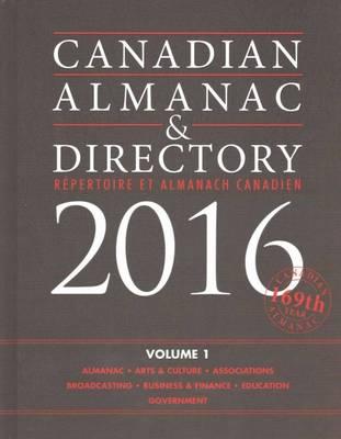 Canadian Almanac & Directory, 2016 (Hardback)