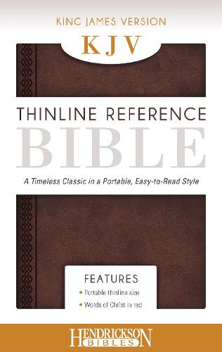 KJV Thinline Reference Bible Chestnut Brown: A Timeless Classic in a Portable, Easy-to-Read Style (Leather / fine binding)