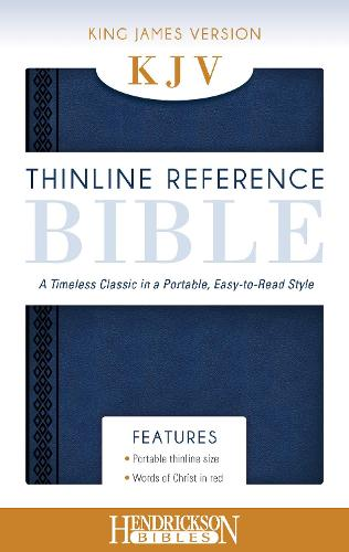 KJV Thinline Reference Bible Midnight Blue: A Timeless Classic in a Portable, Easy-to-Read Style (Leather / fine binding)
