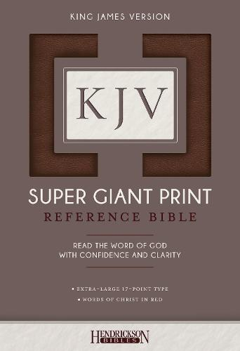 KJV Super Giant Print Bible (Leather / fine binding)