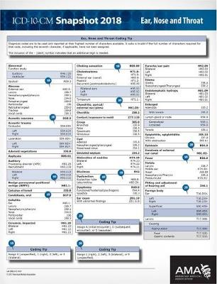 ICD-10-CM 2018 Snapshot Coding Cards: Ear, Nose and Throat