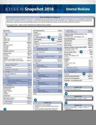 ICD-10-CM 2018 Snapshot Coding Cards: Internal Medicine