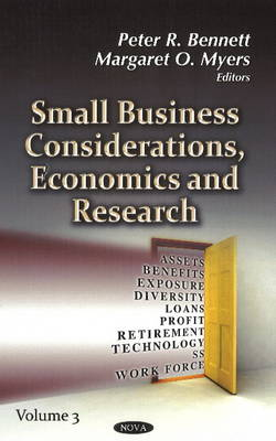 Small Business Considerations, Economics & Research: Volume 3 (Hardback)