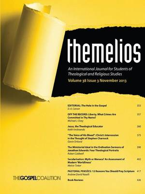 Themelios, Volume 38, Issue 3 (Paperback)