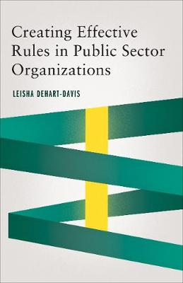 Creating Effective Rules in Public Sector Organizations - Public Management and Change series (Paperback)