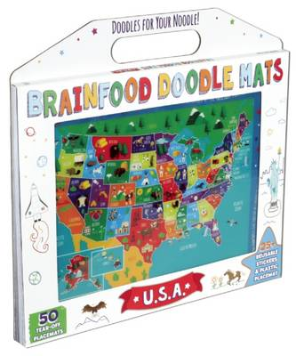 Brainfood Doodle Mats: U.S.A. - Brainfood Doodle Mats