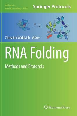 RNA Folding: Methods and Protocols - Methods in Molecular Biology 1086 (Hardback)