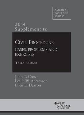Civil Procedure, Cases, Problems and Exercises: Supplement - American Casebook Series (Paperback)