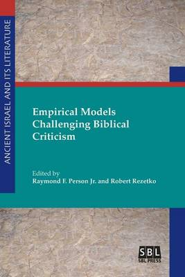 Empirical Models Challenging Biblical Criticism (Paperback)