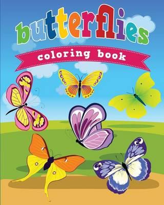 Butterflies Coloring Book (Paperback)