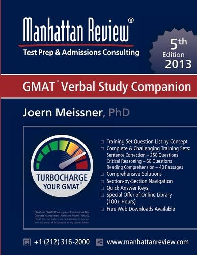 Manhattan Review GMAT Verbal Study Companion [5th Edition] (Paperback)