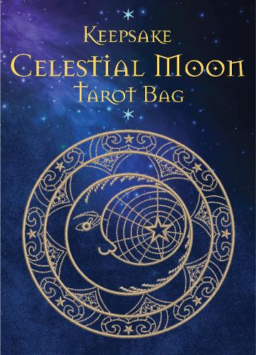 Celestial Moon Tarot Bag: Luxury Velvet Drawstring Tarot or Oracle Bag