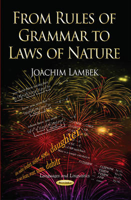 From Rules of Grammar to Laws of Nature (Paperback)