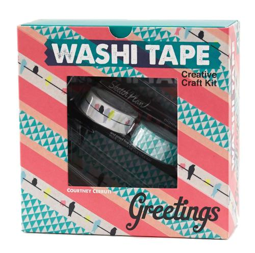 Washi Tape Greetings: Creative Craft Kit (Hardback)