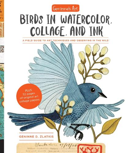Geninne's Art: Birds in Watercolor, Collage, and Ink: A field guide to art techniques and observing in the wild (Paperback)