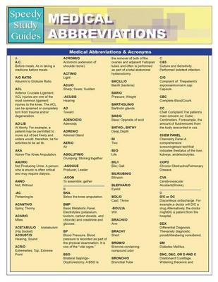 Medical Abbreviations & Acronyms (Paperback)
