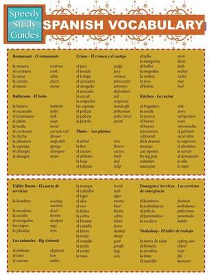 Spanish Vocabulary (Speedy Study Guides: Academic) (Paperback)