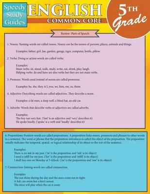 English Common Core 5th Grade (Speedy Study Guides: Academic) (Paperback)