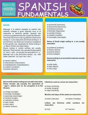 Spanish Fundamentals 1 (Speedy Study Guides: Academic) (Paperback)