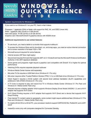 Windows 8.1 Quick Reference Guide (Speedy Study Guide) (Paperback)