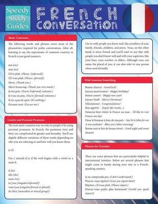French Conversation (Speedy Study Guide) (Paperback)
