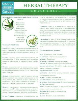 Herbal Therapy Cheat Sheet (Speedy Study Guides: Academic) (Paperback)