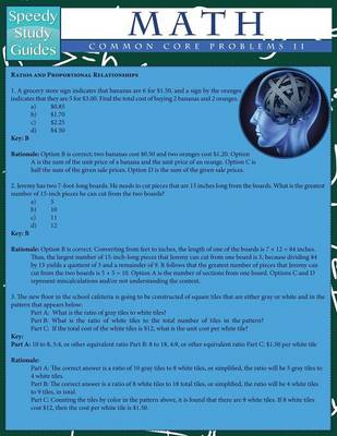 Math Common Core Problems II (Speedy Study Guides: Academic) (Paperback)
