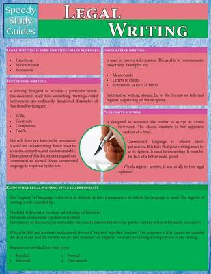 Legal Writing (Speedy Study Guides: Academic) (Paperback)