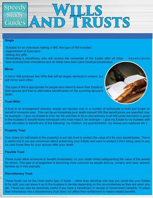 Wills and Trusts (Speedy Study Guides: Academic) (Paperback)