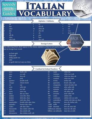 Italian Vocabulary (Speedy Study Guides: Academic) (Paperback)