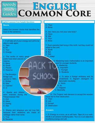 English Common Core (Speedy Study Guides: Academic) (Paperback)