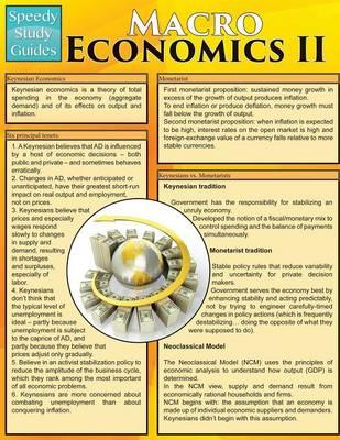 Macro Economics II (Speedy Study Guides: Academic) (Paperback)
