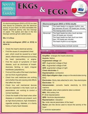 EKGs and Ecgs (Speedy Study Guides: Academic) (Paperback)
