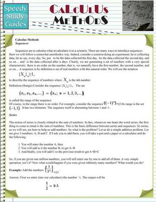 Calculus Methods (Speedy Study Guides: Academic) (Paperback)