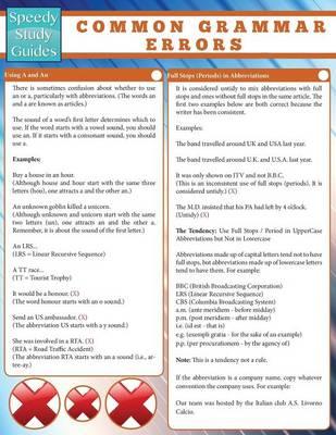 Common Grammar Errors (Paperback)