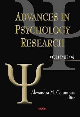 Advances in Psychology Research. Volume 99 (Hardback)