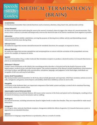 Medical Terminology: Brain (Speedy Study Guides) (Paperback)